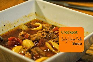 Zesty crockpot Italian Pasta Soup