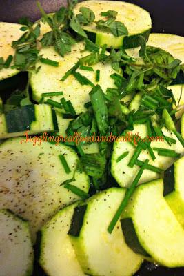 Zucchini and herbs