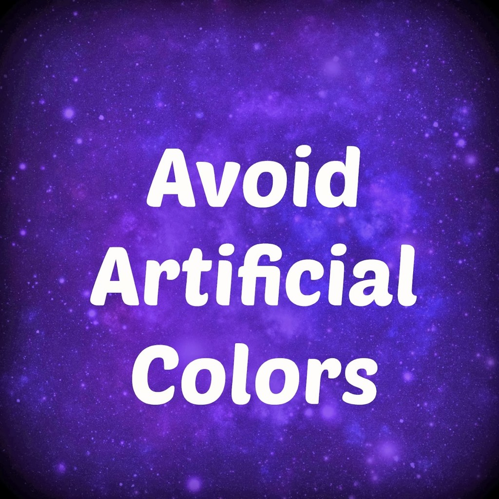 Avoid Artificial Colors
