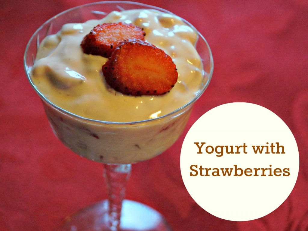 Yogurt Sweetened with Strawberries
