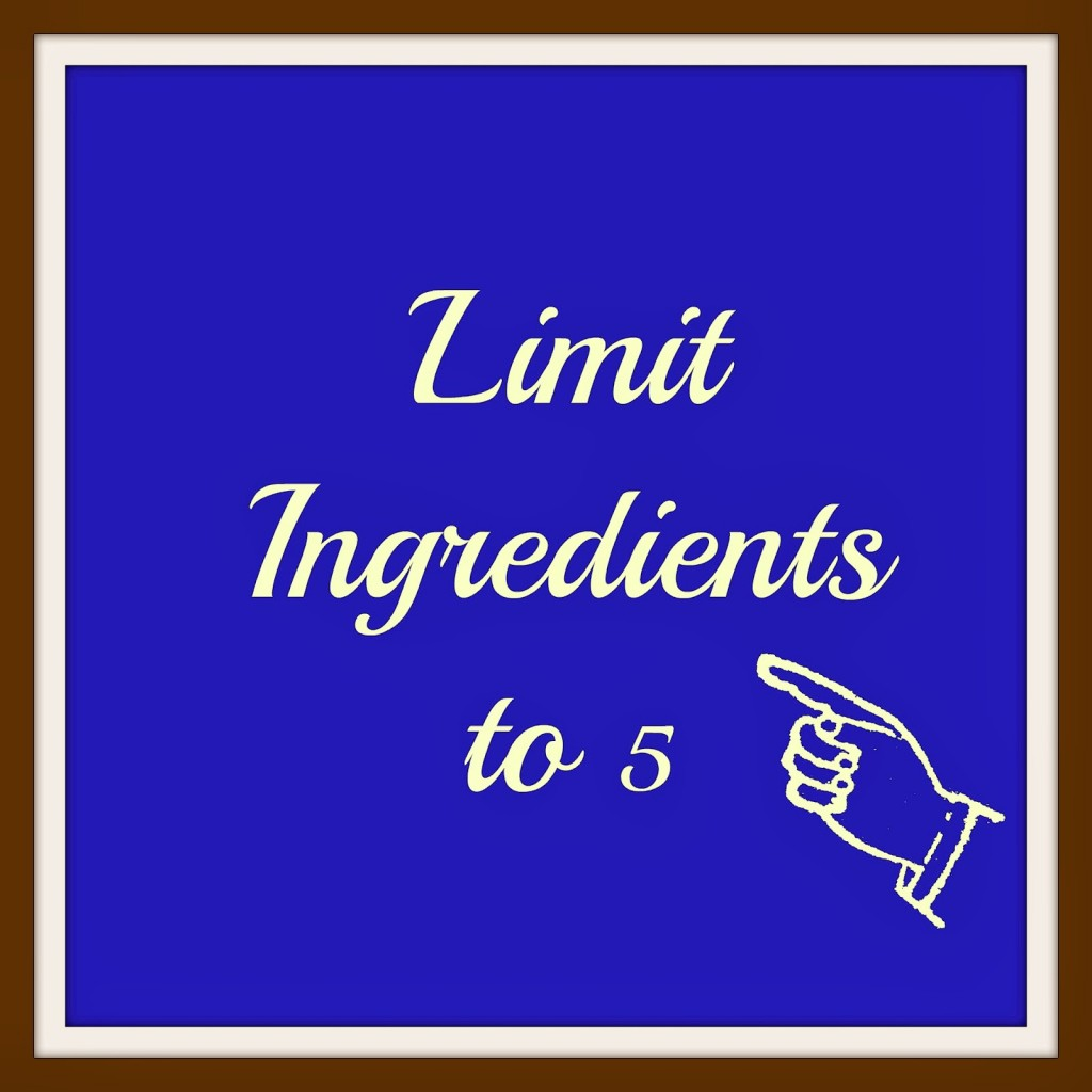 Limit Ingredients to 5