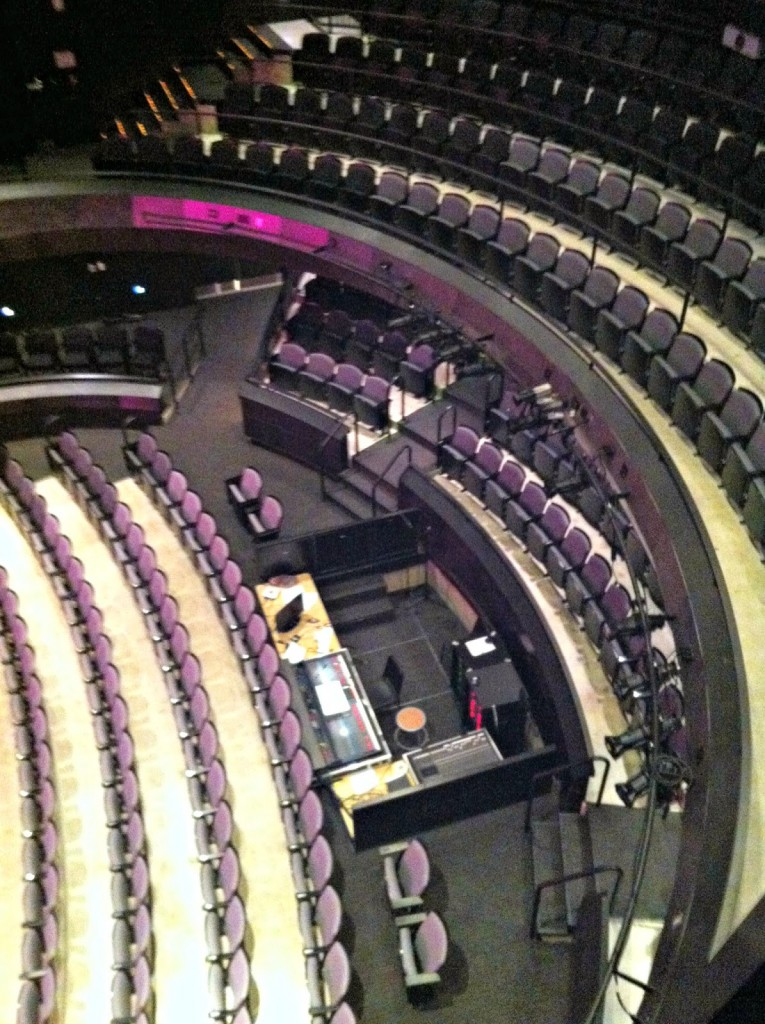 BGSU theater from above