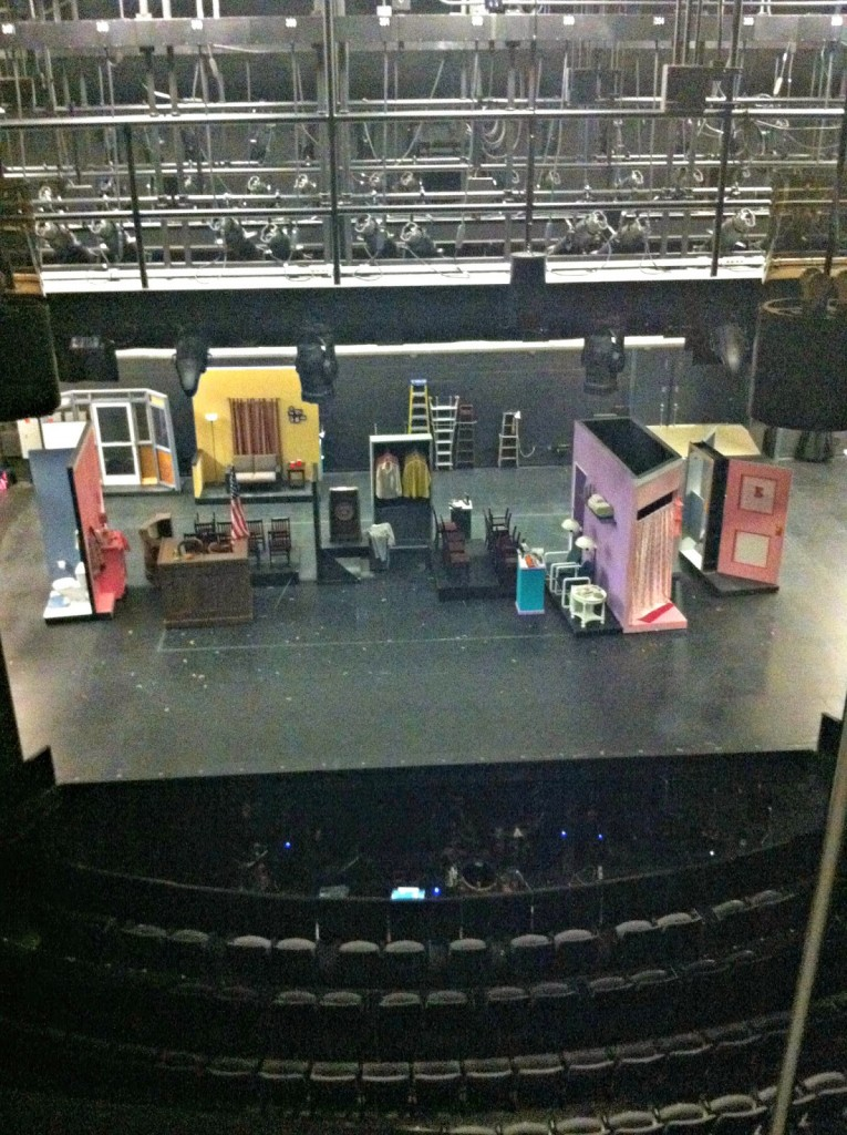 Cool view of the Legally Blonde stage