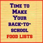 Back-to-school food lists