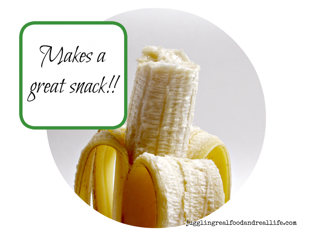 Bananas are great real food, healthy snacks