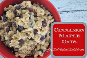 Cinnamon Maple Oats