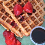 Strawberry Whole Wheat Waffles