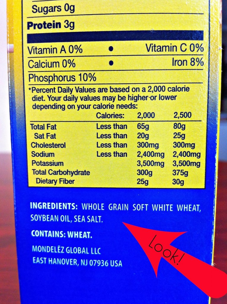 Read packaged food labels