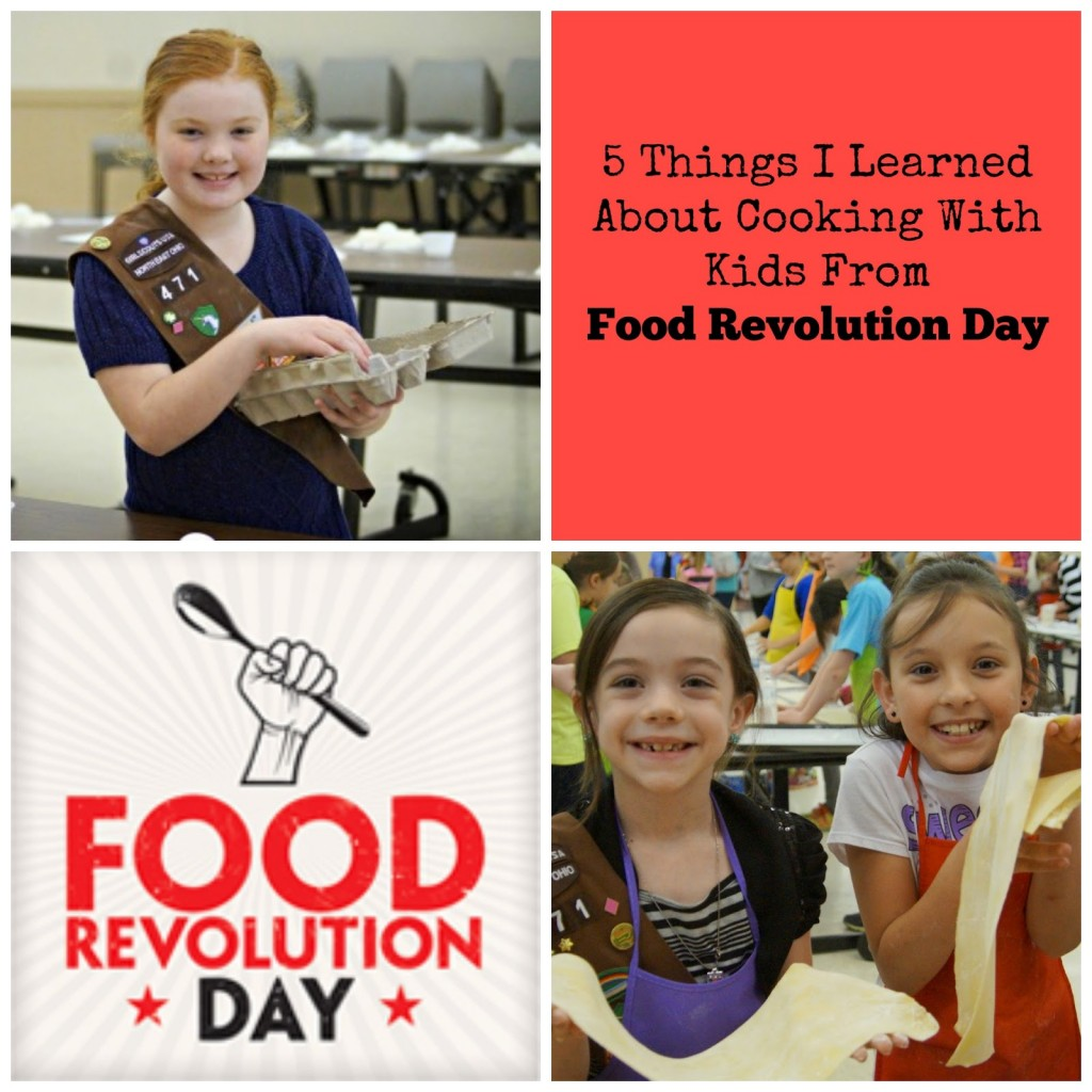 Cooking with Kids Food Revolution Day
