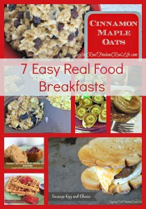 Real Food Breakfast Recipes