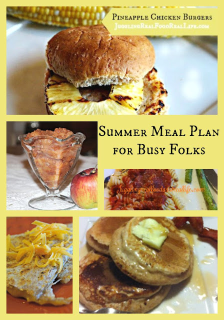 Summer Meal Plan for Busy Folks