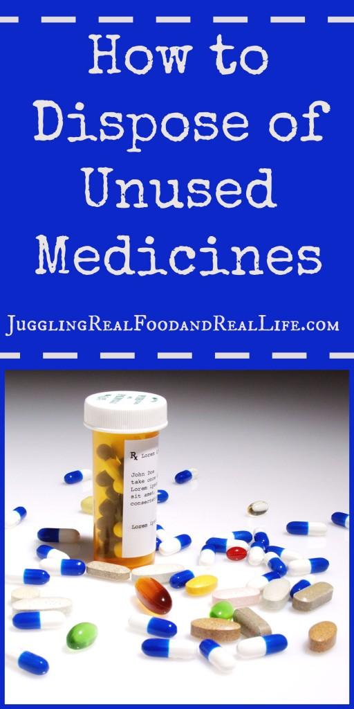 How to dispose of unused medicines