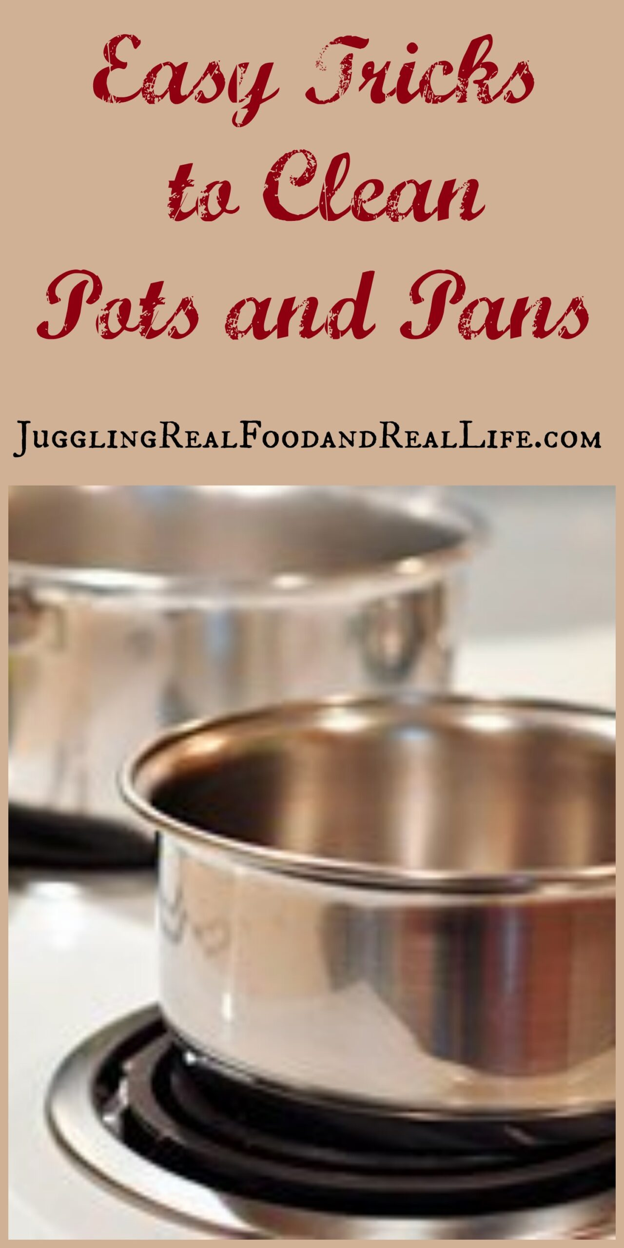 how to clean stained pots and pans