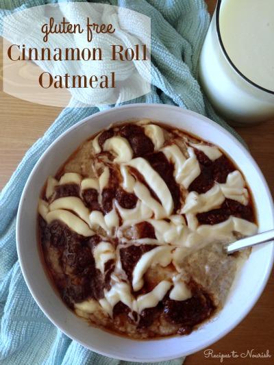 Gluten free Cinnamon Role Oatmeal