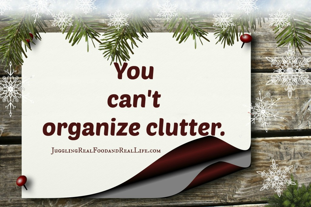 Holiday Clutter Clean Up