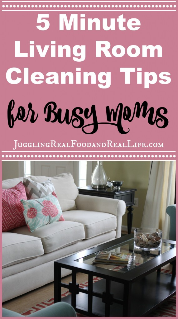 Quick Cleaning Tips for the Living Room
