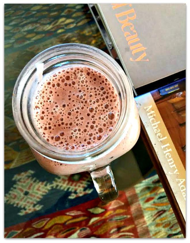 Raspberry Green Tea Smoothie