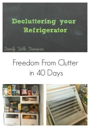 Decluttering your refrigerator