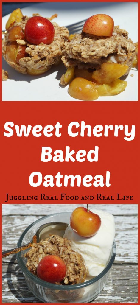 Sweet Cherry Baked Oatmeal Juggling Real Food And Real Life