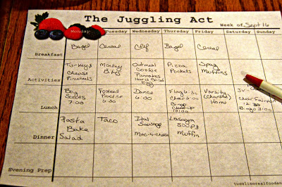 Juggling Real Food and Real Life Meal-Planning Calendar
