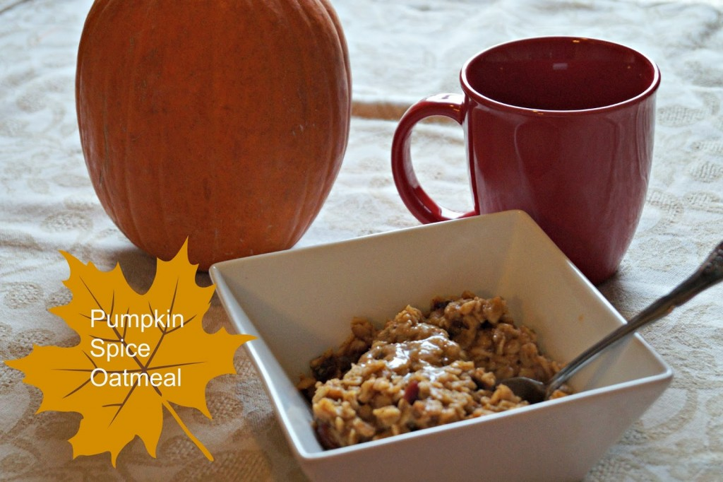 Pumpkin Spice Oatmeal with Cranberries