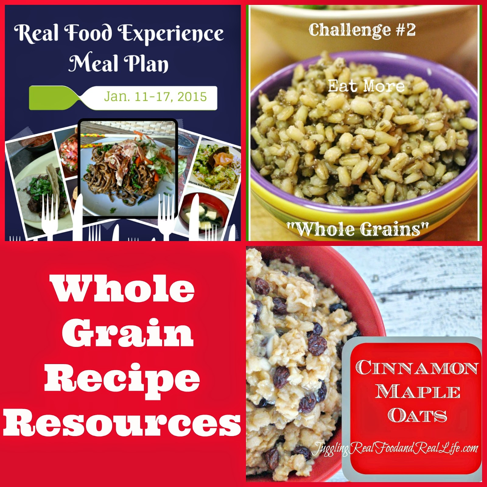 Real Food Experience – Whole Grain Recipe Resources