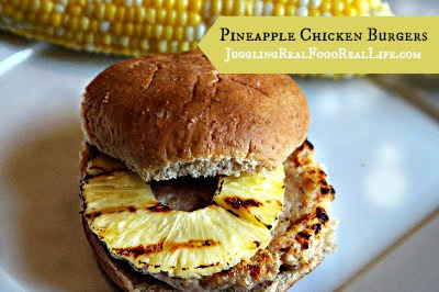 Grilled Pineapple Chicken Burgers