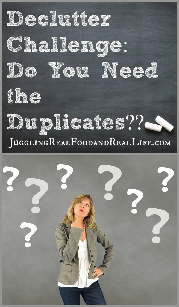 Decluttering Duplicates